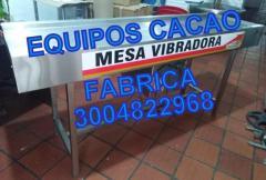 MESA VIBRADORA PARA CHOCOLATE, TOSTADORA DE CACAO, CAFE
